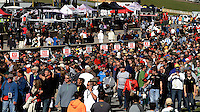 Fans on the grid, Petit Le Mans , Road Atlanta, Braselton, GA, October 2014.   (Photo by Brian Cleary/www.bcpix.com)