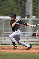 Miami Marlins Brian Anderson (32) during a minor league spring training game against the St. Louis Cardinals on March 31, 2015 at the Roger Dean Complex in Jupiter, Florida.  (Mike Janes/Four Seam Images)