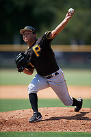 Pittsburgh Pirates pitcher Denny Roman (51) delivers a pitch during a Florida Instructional League game against the New York Yankees on September 25, 2018 at Yankee Complex in Tampa, Florida.  (Mike Janes/Four Seam Images)