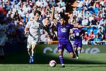 Real Madrid's Alvaro Odriozola and Real Club Celta de Vigo's Sofiane Boufal during La Liga match between Real Madrid and Real Club Celta de Vigo at Santiago Bernabeu Stadium in Madrid, Spain. March 16, 2019. (ALTERPHOTOS/A. Perez Meca)