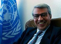 Maputo / Mozambico 1993.Aldo Aiello, special representative of the Secretary-General of the United Nations..Photo Livio Senigalliesi