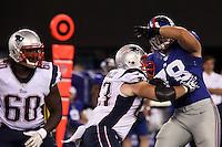 DT Markus Kuhn (Giants) gegen G Dan Connolly (Patriots)