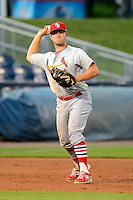 Palm Beach Cardinals third baseman Danny Stienstra #22 during a game against the Charlotte Stone Crabs at Charlotte Sports Park on April 7, 2013 in Port Charlotte, Florida.  Palm Beach defeated Charlotte 8-1.  (Mike Janes/Four Seam Images)