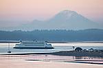 Puget Sound, Port Townsend, Mount Rainier, Point Hudson Marina, sunrise, Olympic Peninsula, Washington State, Pacific Northwest, Washington State Ferry,