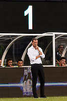 A. C. Milan manager Massimiliano Allegri. Chelsea F. C. defeated A. C. Milan 2-0 during round two of the 2013 Guinness International Champions Cup at MetLife Stadium in East Rutherford, NJ, on August 04, 2013.