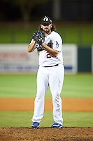 Glendale Desert Dogs pitcher Joe Broussard (26), of the Los Angeles Dodgers organization, during a game against the Salt River Rafters on October 19, 2016 at Camelback Ranch in Glendale, Arizona.  Salt River defeated Glendale 4-2.  (Mike Janes/Four Seam Images)