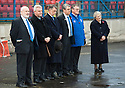 The Cowdenbeath directors led by Donald Findlay QC observe the minutes silence ...
