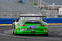 4 July, 2009, Daytona Beach, Florida USA.#67 TRG Porsche GT3 of Andy Lally & Justin Marks.©2009 F.Peirce Williams, USA.