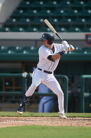 Detroit Tigers Gage Workman (27) bats during a Florida Instructional League game against the Toronto Blue Jays on October 28, 2020 at Joker Marchant Stadium in Lakeland, Florida.  (Mike Janes/Four Seam Images)