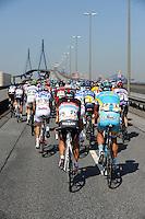 HAMBURGO, ALEMANHA, 19 AGOSTO 2012 - CICLISMO - UCI WORLD TOUR - Ciclistas durante competicao da etapa da cidade de Hambrugo do UCI World Tour, na Alemanha, neste domingo, 19. (FOTO: PIXATHLON / BRAZIL PHOTO PRESS).