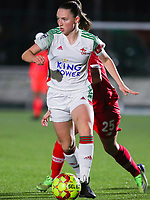 Estee Cattoor (11 OHL) with the ball during a female soccer game between Oud Heverlee Leuven and Standard Femina De Liege on the 10th matchday of the 2020 - 2021 season of Belgian Womens Super League , sunday 20 th of December 2020  in Heverlee , Belgium . PHOTO SPORTPIX.BE | SPP | SEVIL OKTEM