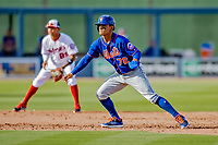 7 March 2019: New York Mets top prospect infielder Andres Gimenez in action during a Spring Training Game against the Washington Nationals at the Ballpark of the Palm Beaches in West Palm Beach, Florida. The Nationals defeated the visiting Mets 6-4 in Grapefruit League, pre-season play. Mandatory Credit: Ed Wolfstein Photo *** RAW (NEF) Image File Available ***