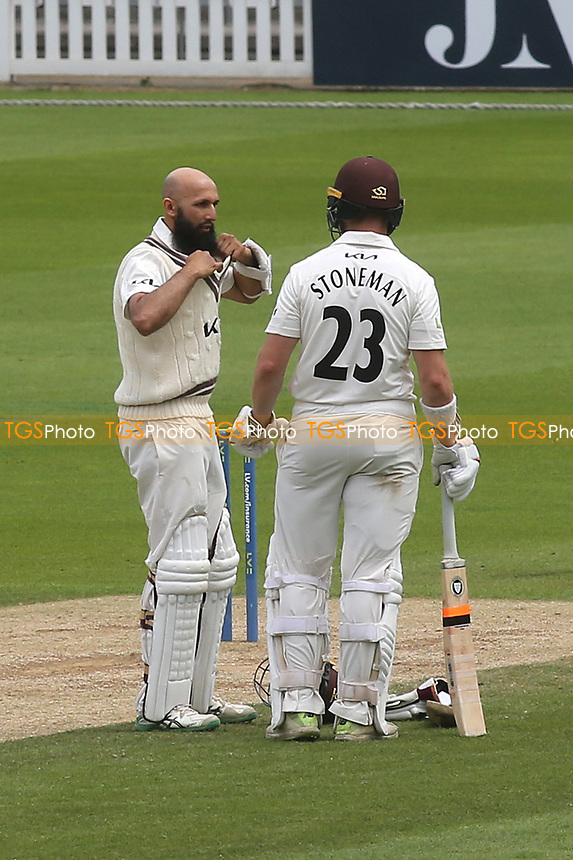 Surrey batsmen, Hashim Amla and Mark Stoneman during Surrey CCC vs Somerset CCC, LV Insurance County Championship Group 2 Cricket at the Kia Oval on 13th July 2021