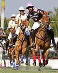 WELLINGTON, FL - FEBRUARY 05:  Facundo Pieres #3 of Orchard Hill takes the ball down the field, during one of the early matches of the Ylvisaker Cup at the International Polo Club Palm Beach on February 05, 2017 in Wellington, Florida. (Photo by Liz Lamont/Eclipse Sportswire/Getty Images)