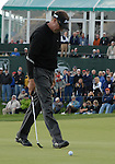 5 October 2008: Robert Allenby walks to his ball after missing a birdie putt on the final hole to force a tie at the Turning Stone Golf Championship in Verona, New York.