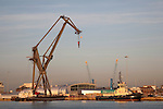 Tug Boat in Southampton Dock; England; UK