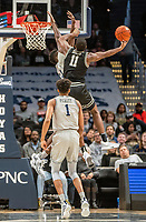WASHINGTON, DC - FEBRUARY 19: Alpha Diallo #11 of Providence  goes up for a shot during a game between Providence and Georgetown at Capital One Arena on February 19, 2020 in Washington, DC.