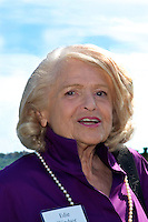 Edie Windsor, victorious plaintiff in United States v. Windsor Supreme Court case which challenged the constitutionality of the Defense Of Marriage Act being used to deny benefits to same-sex spouses whose marriages are recognized under state laws, a case which helped secure the constitutional right to Gay Marriage.She was the speaker at the Gay and Lesbian Advocates and Defenders Summer Party in Provincetown MA 2013