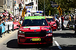 Skoda supplying electric cars for the organisers before the start of Stage 5 of Tour de France 2020, running 183km from Gap to Privas, France. 2nd September 2020.<br /> Picture: ASO/Alex Broadway   Cyclefile<br /> All photos usage must carry mandatory copyright credit (© Cyclefile   ASO/Alex Broadway)