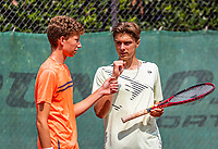 Hilversum, Netherlands, August 5, 2021, Tulip Tennis center, National Junior Tennis Championships 16 and 18 years, NJK, Boys Doubles 18 years, Stijn Paardekoper (NED)  (L) and Brian Bozemoj (NED)<br /> Photo: Tennisimages/Henk Koster