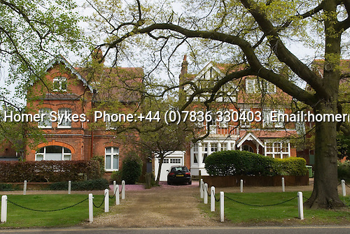 Dulwich Village, South London SE21 London UK 2008. Large Victorian family homes. College Road.