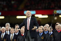 Pictured: The conductor of the welsh choir Saturday 22 November 2014<br />
