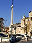 Italien, Latium, Tarquinia: Piazza Nazionale mit Fontana Monumentale | Italy, Lazio, Tarquinia: Piazza Nazionale with Fontana Monumentale