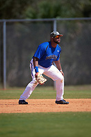 Seton Hall Pirates first baseman Mikael-Ali Mogues (50) during a game against the Ohio State Buckeyes on March 4, 2016 at North Charlotte Regional Park in Port Charlotte, Florida.  Ohio State defeated Seton Hall 9-3.  (Mike Janes/Four Seam Images)