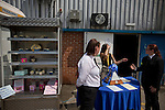 Mansfield Town Football Club Open Day, 14/07/2013. Field Mill stadium, League Two. A display of cupcakes and the Conference National trophy on display outside Mansfield Town's Field Mill stadium during an open day held for the club's supporters as the club get ready for the new season. Mansfield Town achieved promotion back to England's Football League by winning the Conference National in season 2012-13. Field Mill was the oldest ground in the Football League, hosting football since 1861 although some reports date it back as far as 1850, with Mansfield Town having played there since 1919. Photo by Colin McPherson.