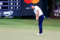 4th September 2020, Atlanta GA, USA;  Scottie Scheffler putts on the 9th green during the first round of the TOUR Championship  at the East Lake Golf Club in Atlanta, GA.