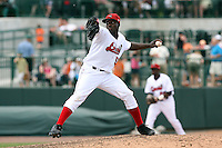 June 15th 2008:  Pitcher Miguel Sanfler of the Great Lakes Loons, Class-affiliate of the Los Angeles Dodgers, during a game at Dow Diamond in Midland, MI.  Photo by:  Mike Janes/Four Seam Images