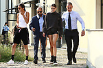 Models leaving the Max Mara Fashion Show during the Milan's Fashion Week Women's wear Spring Summer 2019, in Milan on September 20, 2018. Kaia Gerber