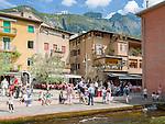 Italy, Veneto, Lake Garda, Malcesine: Porto Vecchio in old town | Italien, Venetien, Gardasee, Malcesine: Porto Vecchio in der Altstadt