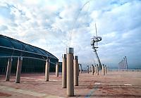 Barcellona, Spagna, Catalogna, stadio olimpico, torre delle comunicazioni
