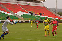 TUNJA - COLOMBIA, 8-03-2018: Patriotas Boyacá y Atlético Bucaramanga en partido por la fecha 7de la Liga Águila I 2018 jugado en el estadio La Independencia la ciudad de Tunja. / Patriotas Boyaca and Atletico Bucaramanga in match for date 7 of the Aguila League I 2018 played at La Independencia stadium in Tunja city. Photo: VizzorImage / José Miguel Palencia / Contribuidor