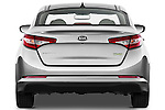 Straight rear view of a 2011 Kia Optima Hybrid