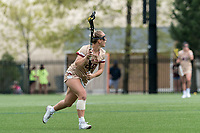 NEWTON, MA - MAY 14: Phoebe Day #29 of Boston College looks to pass during NCAA Division I Women's Lacrosse Tournament first round game between Fairfield University and Boston College at Newton Campus Lacrosse Field on May 14, 2021 in Newton, Massachusetts.