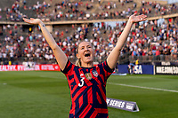 EAST HARTFORD, CT - JULY 5: Samantha Mewis #3 of the USWNT waves to the crowd during a game between Mexico and USWNT at Rentschler Field on July 5, 2021 in East Hartford, Connecticut.