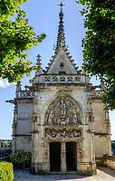 France, Indre-et-Loire (37), Amboise, château d'Amboise, chapelle Saint-Hubert