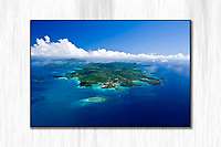Neverland<br /> Aerial of St. John island<br /> US Virgin Islands