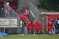 Hornchurch players take to the field during Hornchurch vs Maidstone United, Buildbase FA Trophy Football at Hornchurch Stadium on 6th February 2021