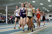 WINSTON-SALEM, NC - FEBRUARY 07: Franziska Jakobs #5 of High Point University and Lily Harding-Delooze #6 of Wake Forest University compete in the Women's 1 Mile Run at JDL Fast Track on February 07, 2020 in Winston-Salem, North Carolina.