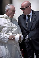 Domenico Giani Inspector General of the Gendarmerie Corps, the police and security force of the Vatican City, and the chief bodyguard of Pope Benedict XVI and of Pope Francis.The Vatican's gendarme corps  of Vatican City State (Italian: Corpo della Gendarmeria dello Stato della Città del Vaticano) is the gendarmerie, or police and security force, of Vatican City and the extraterritorial properties of the Holy See.<br /> The 130-member corps is led by an Inspector General, currently Domenico Giani,The corps is responsible for security, public order, border control, traffic control, criminal investigation, and other general police duties in Vatican City.2019