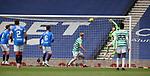 02.05.2021 Rangers v Celtic: Scott Bain beaten by Alfredo Morelos