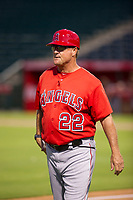 AZL Angels manager Dave Stapleton (22) coaches third base during the game against the AZL White Sox on August 14, 2017 at Diablo Stadium in Tempe, Arizona. AZL Angels defeated the AZL White Sox 3-2. (Zachary Lucy/Four Seam Images)
