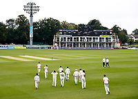 Kent's young makeshift team takes to the field during Kent CCC vs Sussex CCC, LV Insurance County Championship Group 3 Cricket at The Spitfire Ground on 11th July 2021
