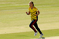 Tash Farrant of South east Stars celebrates taking the wicket of Amara Carr during Sunrisers vs South East Stars, Rachael Heyhoe Flint Trophy Cricket at The Cloudfm County Ground on 13th September 2020