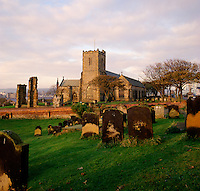 Scarborough, Yorkshire, England.  St. Mary's Churchyard where Anne Bronte was buried in 1849..