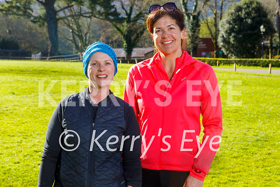 Enjoying a stroll in Muckross Gardens Killarney on Saturday, l to r: Cara McDonald and Jo Gaffey.