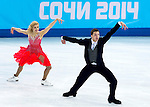 Ekaterina Bobrova and Dmitri Soloviev of Russia compete in the Figure Skating Team Ice Dance Short Program during the 2014 Sochi Olympic Winter Games at Iceberg Skating Palace on February 8, 2014 in Sochi, Russia. Photo by Victor Fraile / Power Sport Images